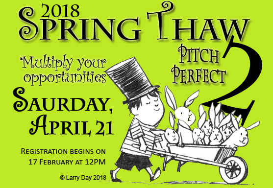 JOIN OUR ALL-STAR LINEUP of local industry professionals on April 21 for ANOTHER day of pitching practice and craft breakouts that will help you get in the game!  https://illinois.scbwi.org/2018-scbwi-il-spring-thaw-pitch-perfect