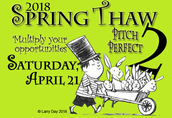 JOIN OUR ALL-STARLINEUPof local industry professionals on April 21 for ANOTHERday of pitching practice and craft breakoutsthat will help you get in the game! https://illinois.scbwi.org/2018-scbwi-il-spring-thaw-pitch-perfect