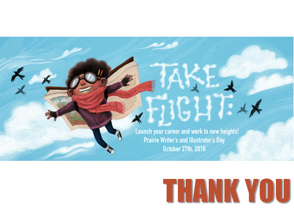 Take Flight: Launch Your Work and Career to New Heights on October 27, 2018 https://illinois.scbwi.org/events/pwid2018/