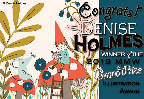 Congratulations to SCBWI-IL Member Denise Holmes, winner of the 2019 SCBWI Marvelous Midwest Grand Prize Illustration Award!