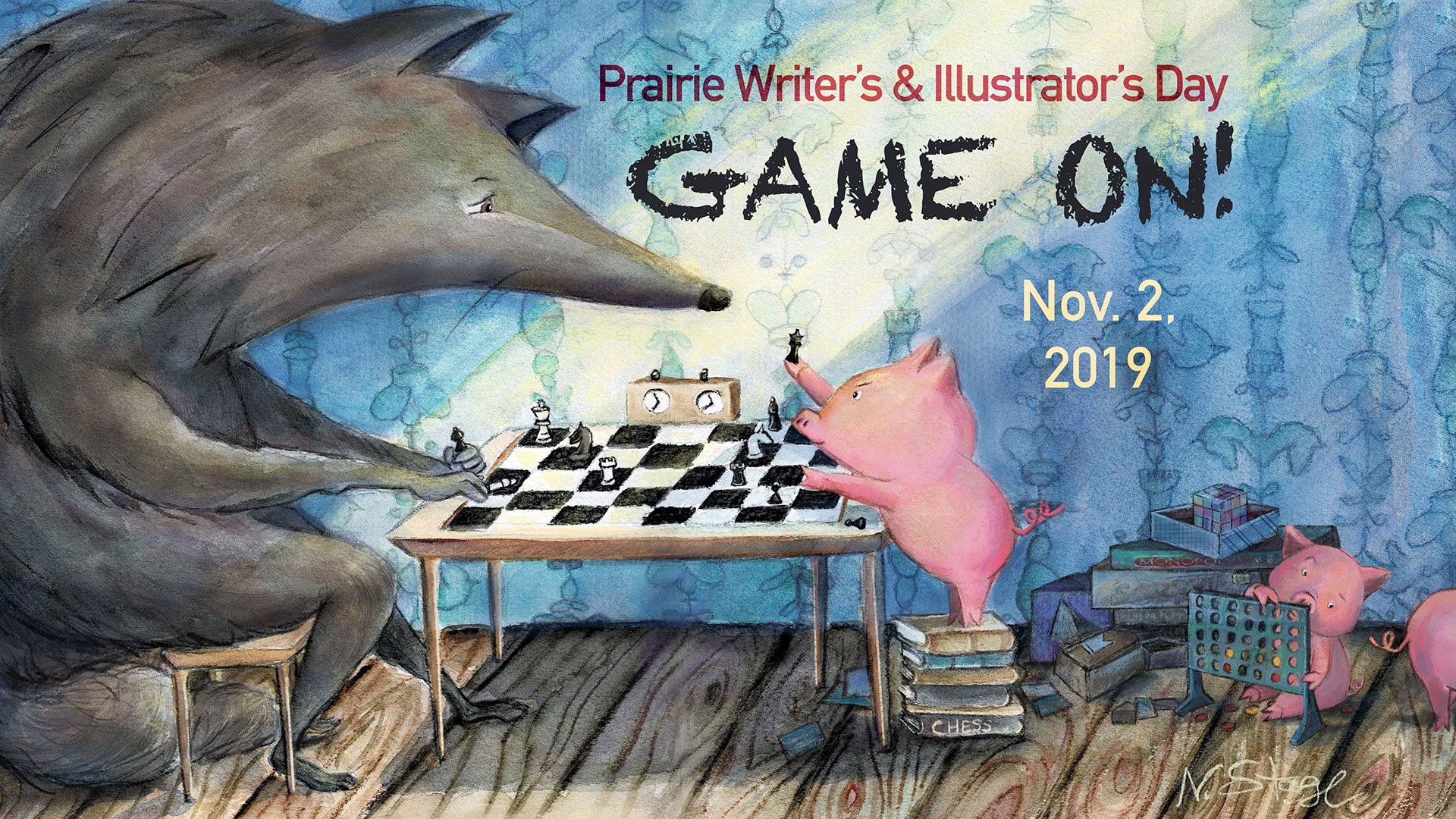 Game On!: Up Your Writing & Illustrating Game Saturday, November 2nd 2019 9:00am-6:00pm Wojcik Conference Center Harper College 1200 W. Algonquin Rd Palatine IL 60067 Registration begins Saturday, September 7th image by Niki Stage Click for more information