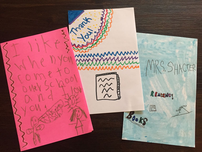 Read Local School Visits Thank You Notes