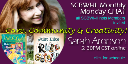 All SCBWI-Illinois Members Invited Monthly on Monday Nights  5:30 PM CST Online Join Zoom Meeting Meeting ID: 899 8383 3649 Passcode: 501646 UPCOMING SCHEDULE THESE ZOOM MEETINGS ARE NOT RECORDED.  Please attend to be