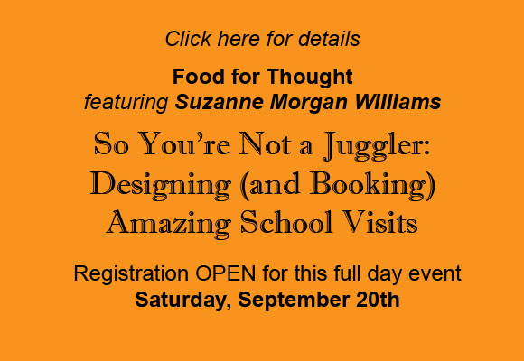 Food for Thought September 20th featuring Suzanne Morgan Williams Registration OPEN now