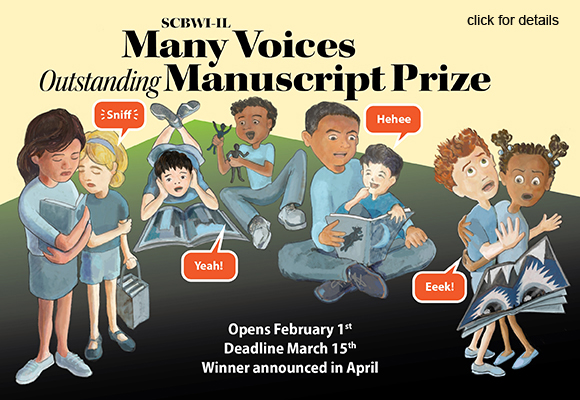 Announcing the SCBWI-IL Many Voices Outstanding Manuscript Prize. For more information:http://illinois.scbwi.org/scholarships/many-voices-outstanding-manuscript-prize/