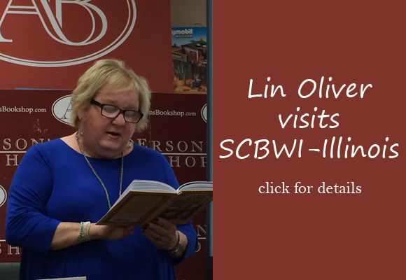 "SCBWI founder and Executive Director LIN OLIVER hosted a reception for dozens of SCBWI-IL members on Tuesday, April 26th, from 4PM-6PM at Bar Louie in Naperville. Lin chatted about all things SCBWI—new activities, member benefits and member's suggestions and children's book marketing.  Then we all walked over to Anderson's Bookshop to see a real children's book pro in action! Lin introduced and autograhed  her fun, new middle grade Fantastic Frame series! Of her visit, Lin said, ""It was one of the highlights of the trip for me.  I love getting to know the members more, love hearing their stories and goals and dreams, and love to witness the friendships that bloom under the SCBWI banner.  Please convey to everyone who was there how much it meant to me, and how I loved spending some time with them!"" Thanks Lin and all who were able to attend!"